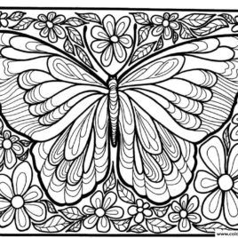 coloring for adults large butterfly - Butterfly Coloring Pages For Adults
