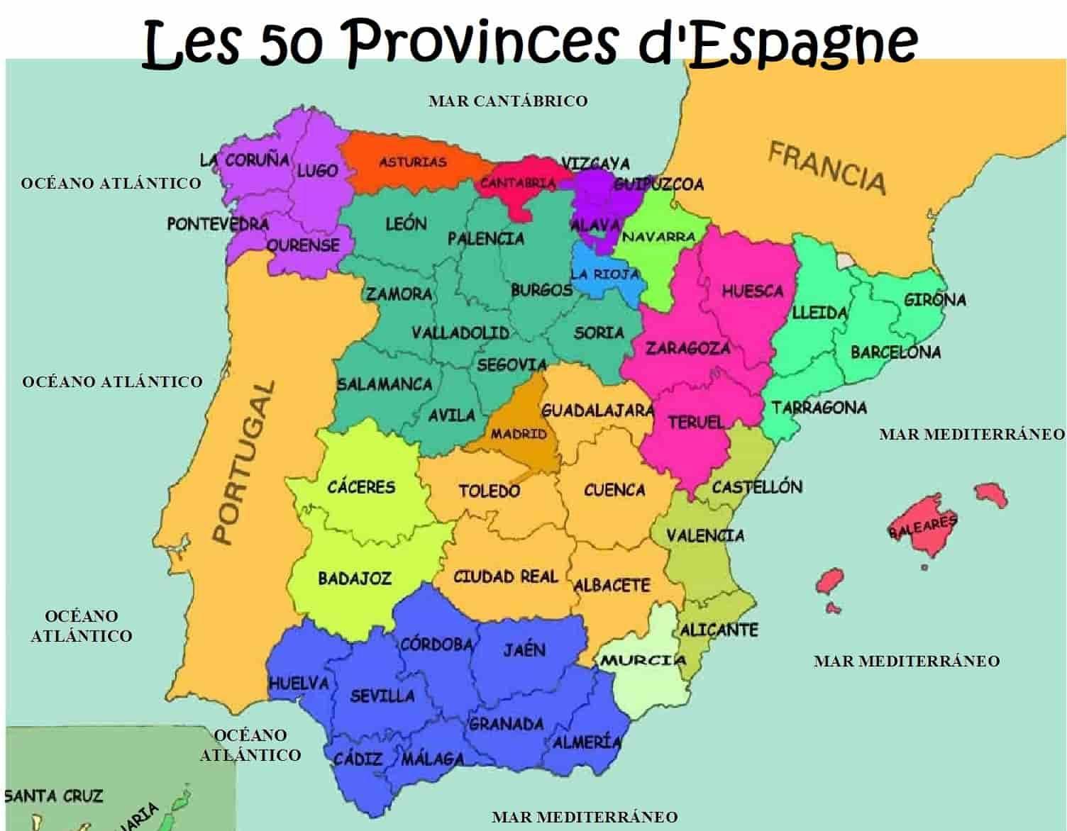 Les 50 Provinces D Espagne Espagne Espagne Carte Saragosse