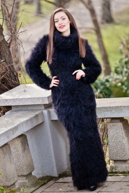 black mohair dress | Mohairtraum | Pinterest | Sweaters ...