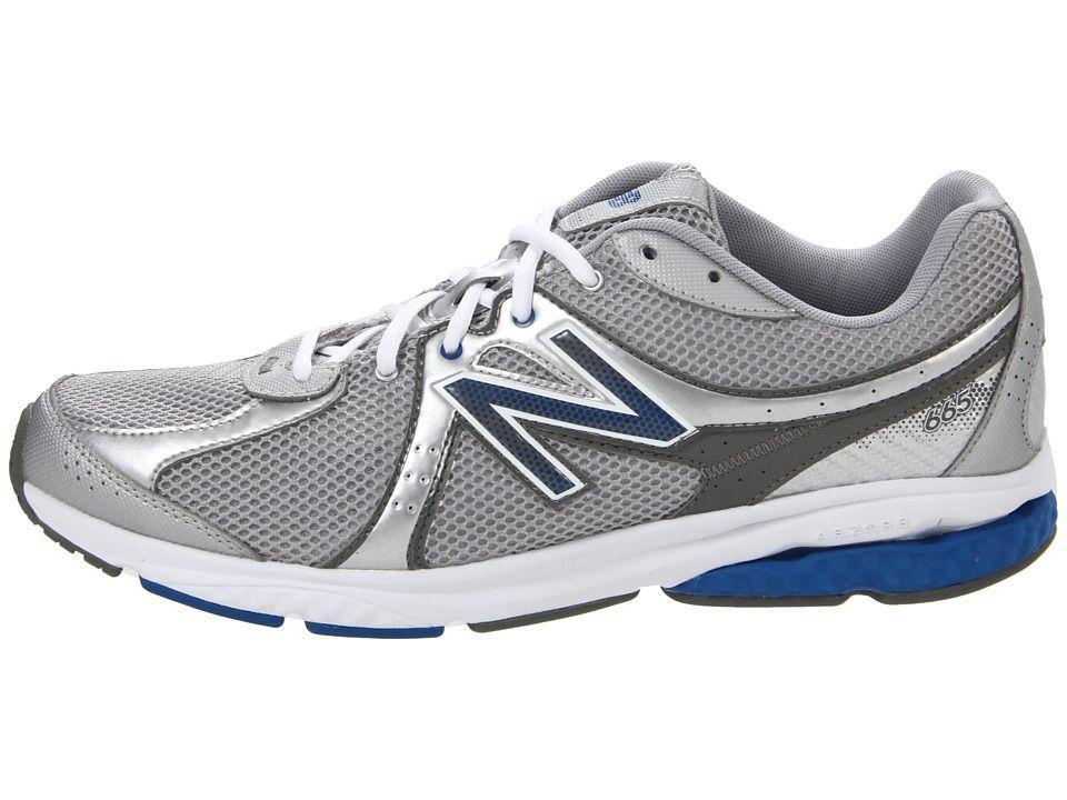 New Balance MW665 Men's Walking Shoes Silver/Blue