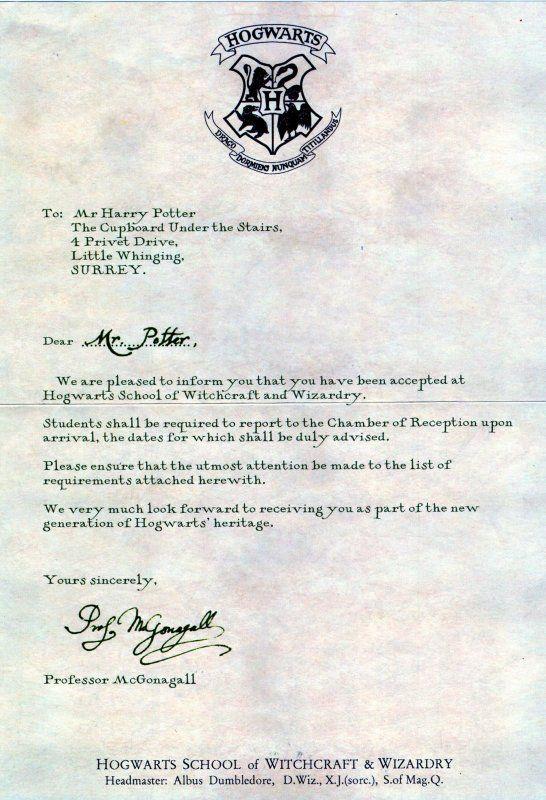 Faire La Lettre Dadmition A Poudlard Harry Potter Pinterest