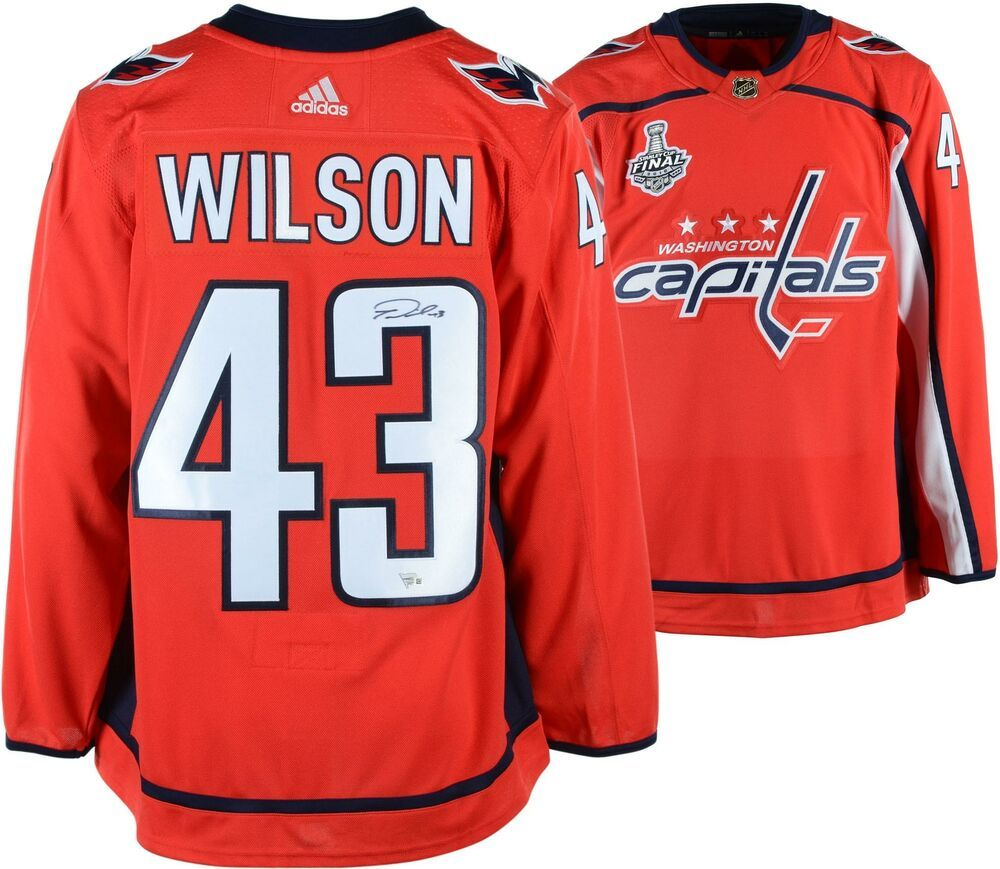 promo code d06cc d4aba Autographed Tom Wilson Capitals Jersey Fanatics Authentic ...
