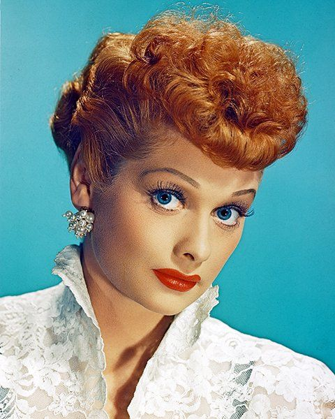 Lucille Ball Dyed This Funny Lady And Notorious Ginger Self Described Her Hair As Naturally Mousy Brown We Have A Hard T Love Lucy Lucille Ball I Love Lucy