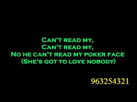 Lyrics to poker face by lady gaga playboy casino slot machine