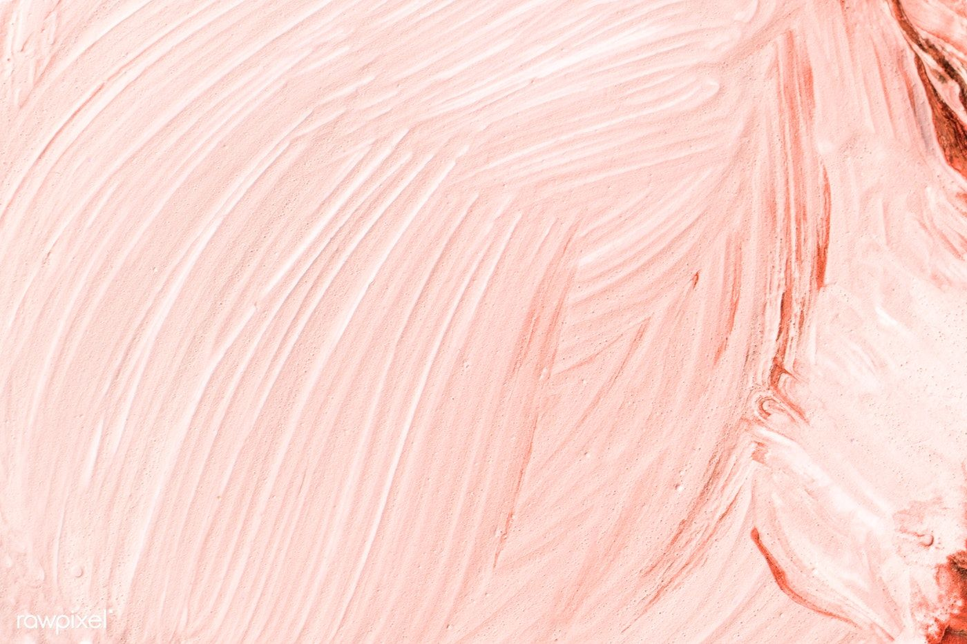 Peach Oil Paint Strokes Textured Background Free Image By