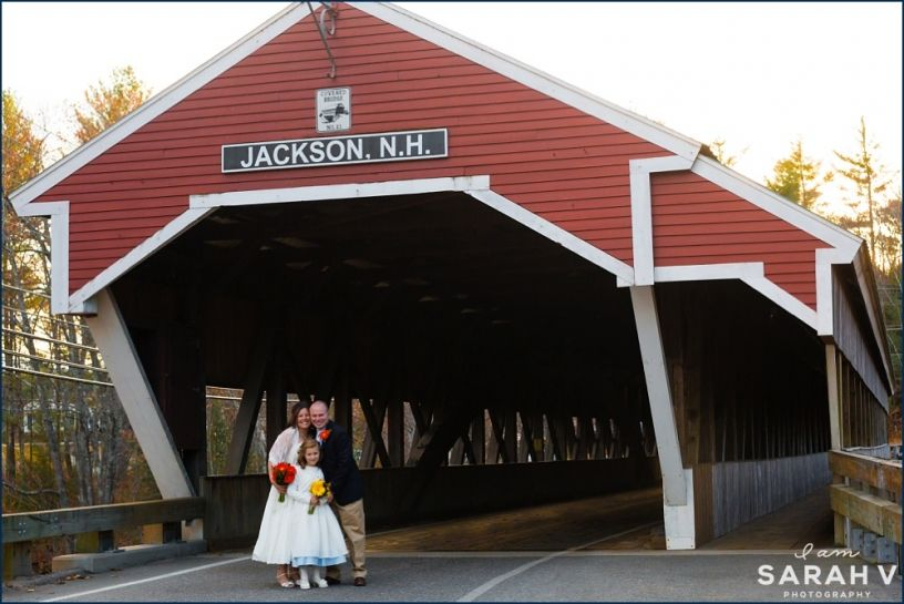 Covered Bridges of New Hampshire // Jackson // Wedding Elopement // Fall in the Mountains