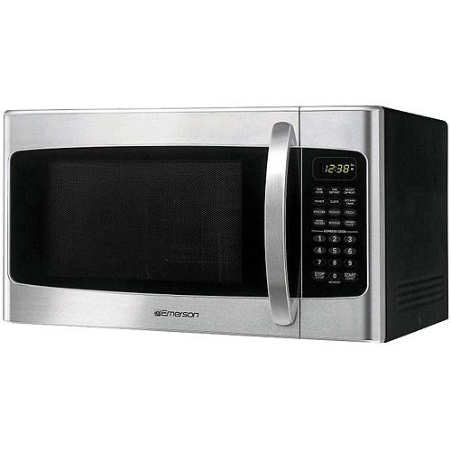 Emerson 1 Cu Ft Microwave Oven Stainless Steel Front Finish 80
