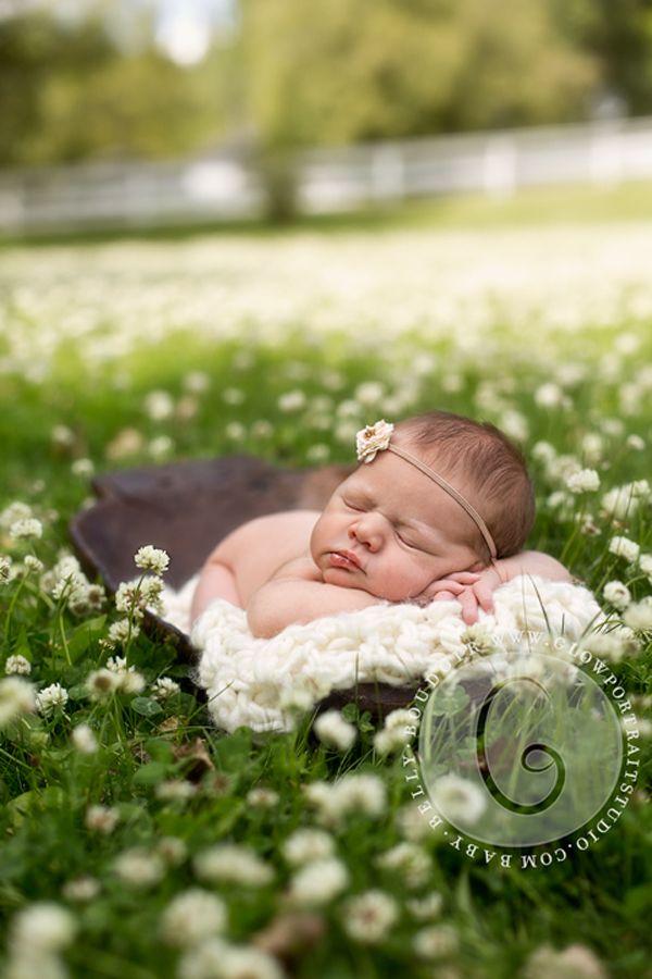 Newborn Photoshoot Outside