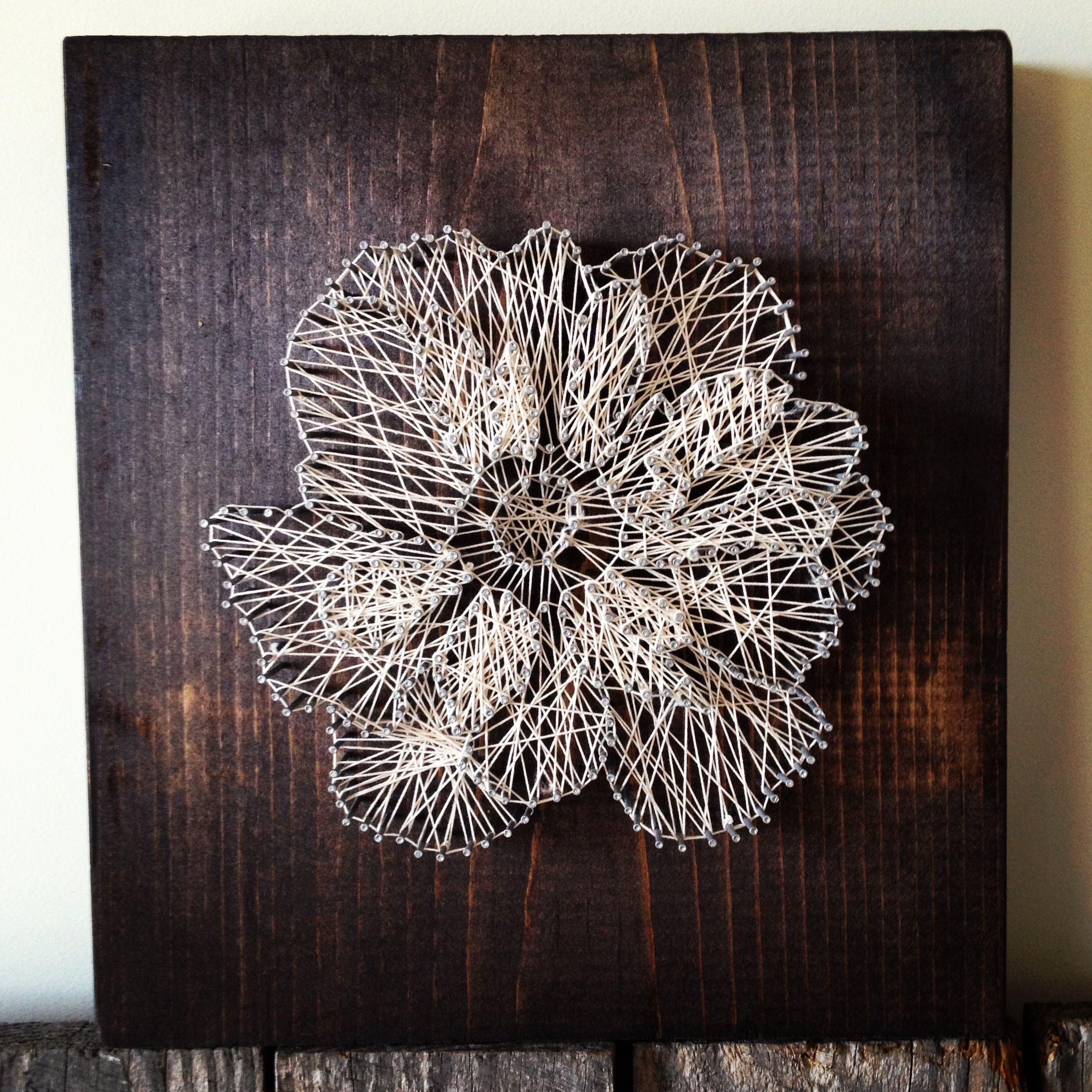 String art craftysheeeat pinterest string art yarn flowers string art prinsesfo Image collections