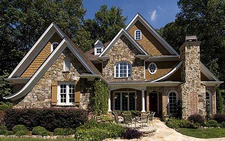 Garrell Associates, Inc. Lynford House Plan # Front Elevation, Mountain Style  House Plans, English Cottage Style House Plans, Design By Michael W.