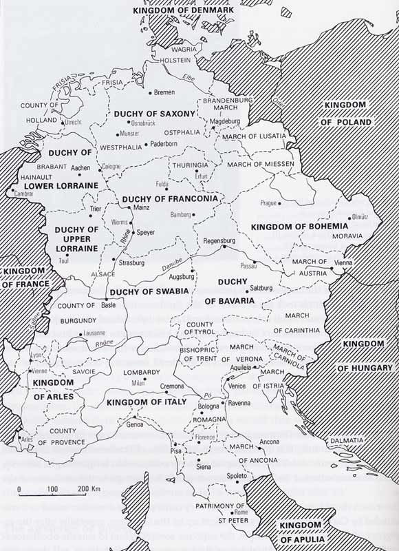 Map Holy Roman Empire 900s 1000s For History Reference