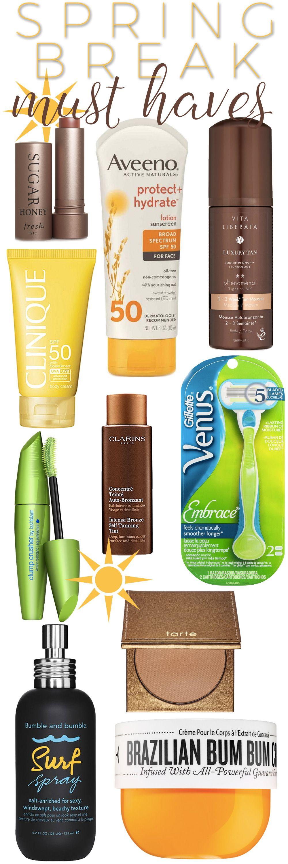 Top 10 Spring Break Beauty Essentials. — Beautiful Makeup Search #beautyessentials