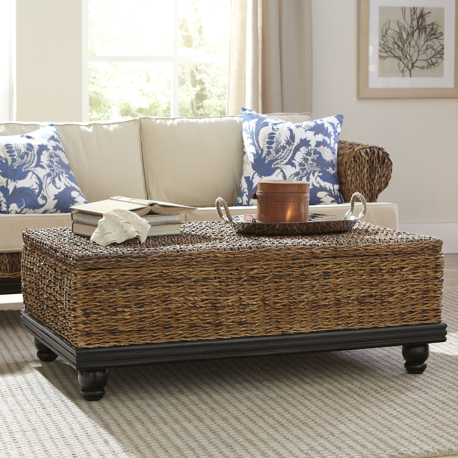 Esmont Woven Coffee Table Incredibly Durable And Rich In Tonal