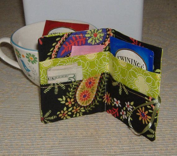 Tea Bag Wallet On The Go SALE by AStitchinTime72 on Etsy, $6.25