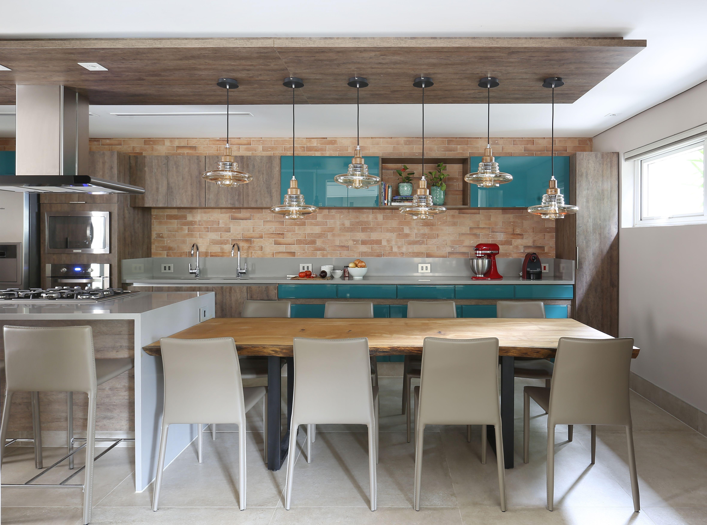 Cozinha Integrada Com Sala De Jantar Tem D Cor Descontra Do
