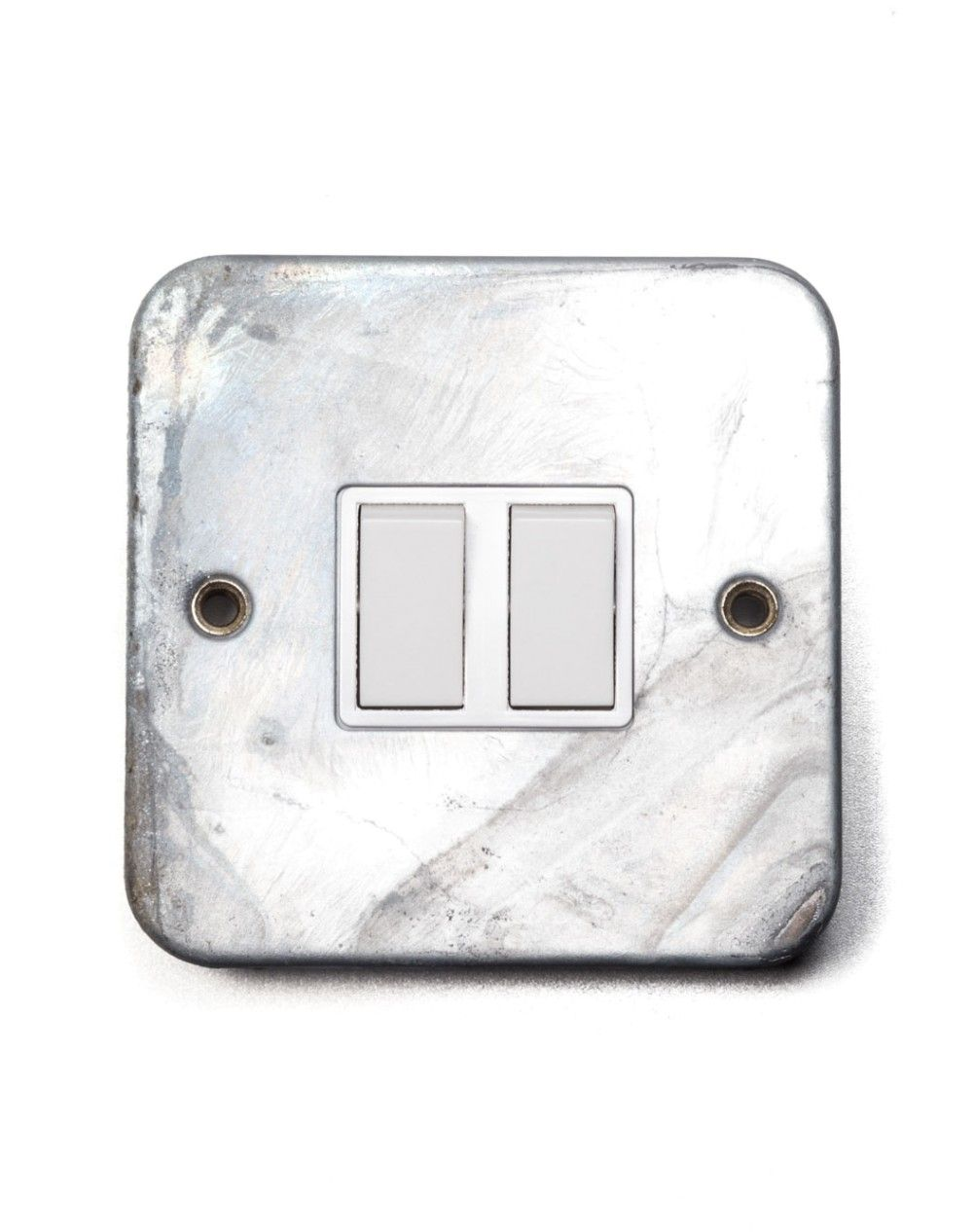 Galvanised Double Switches | Wall Switches | Factorylux | Light ...