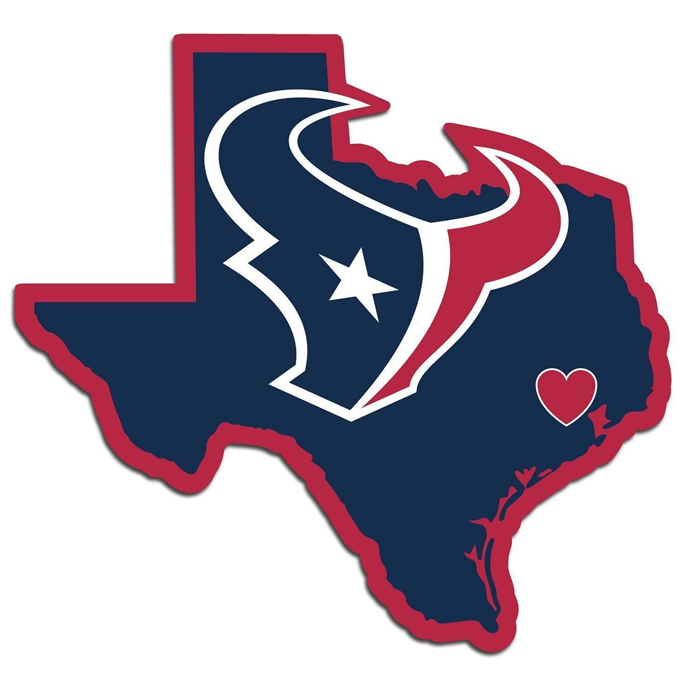 Official Houston Texans Nfl Football Home State Auto Car Sticker Window Decal [ 1379 x 1379 Pixel ]