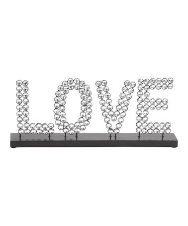 Take a look at this 'Love' Standing Sign by UMA Enterprises on #zulily today!