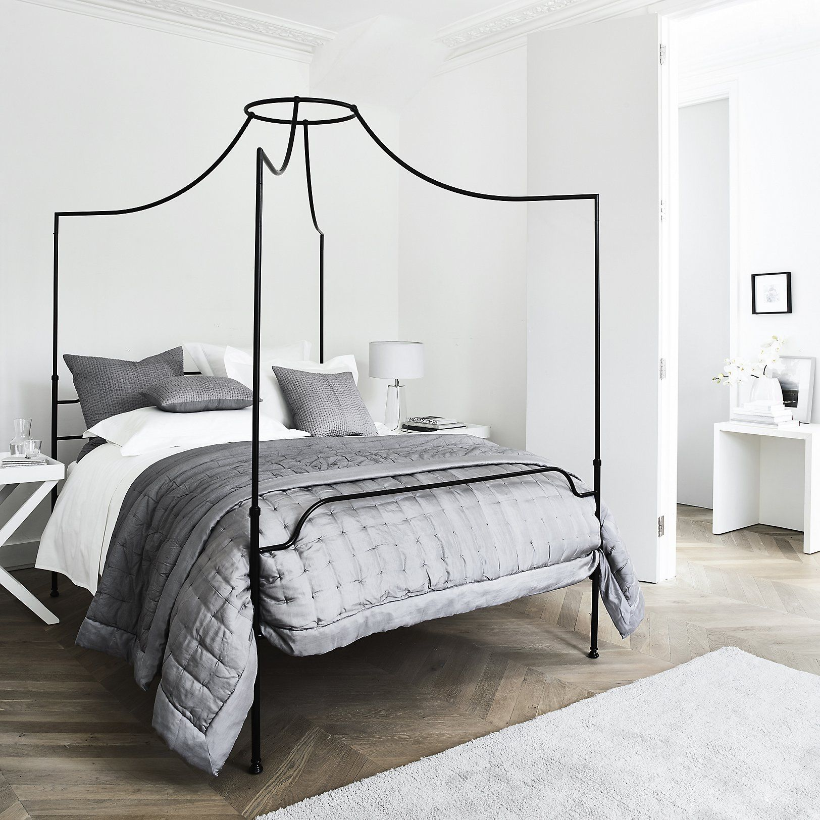 Beaumont Four Poster Bed Beds Furniture Home The White Company Uk Four Poster Bed Bedroom Redesign Canopy Bed Frame