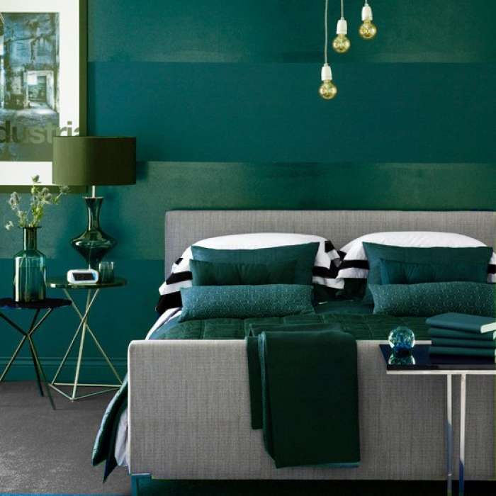 "dark green bedroom from ""the color green"" 