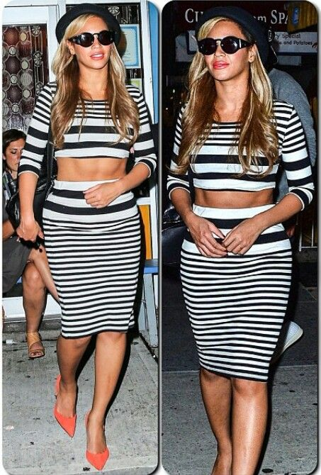 queen b rules in her crop top and skirt set for kanye s bday