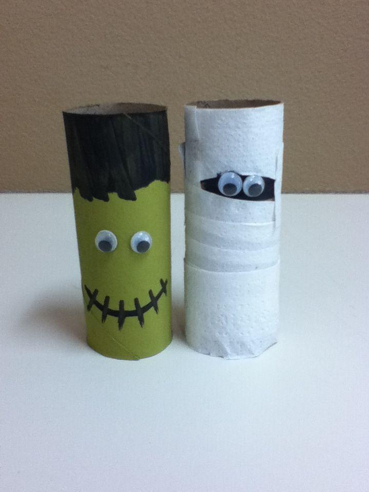 Preschool Halloween Crafts Using Toilet Paper Rolls Preschool