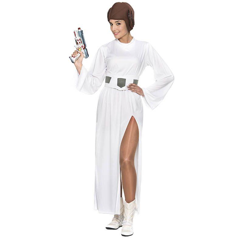 Star wars espace princesse Leia Leah perruque robe fantaisie