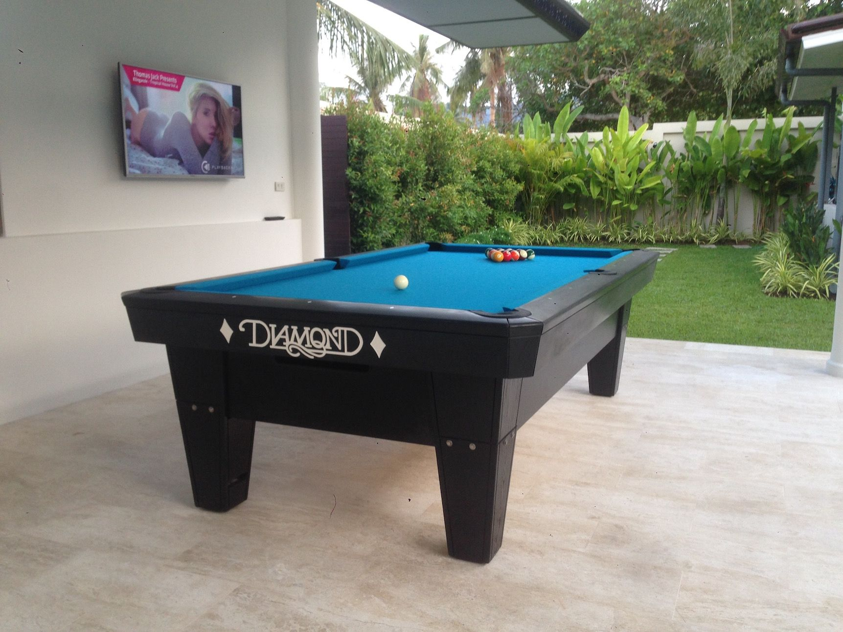 Diamond ProAm Ft With Simonis HR Tournament Blue Delivered In - Diamond pro pool table