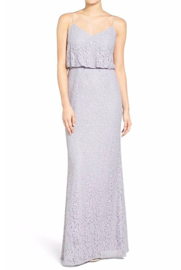 Adrianna Papell Lace Blouson Gown Light Dove   Poshare Pastel lace ...