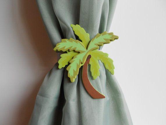 Palm Tree Curtain Tie Backs Beach Curtain Ties Nursery Decor
