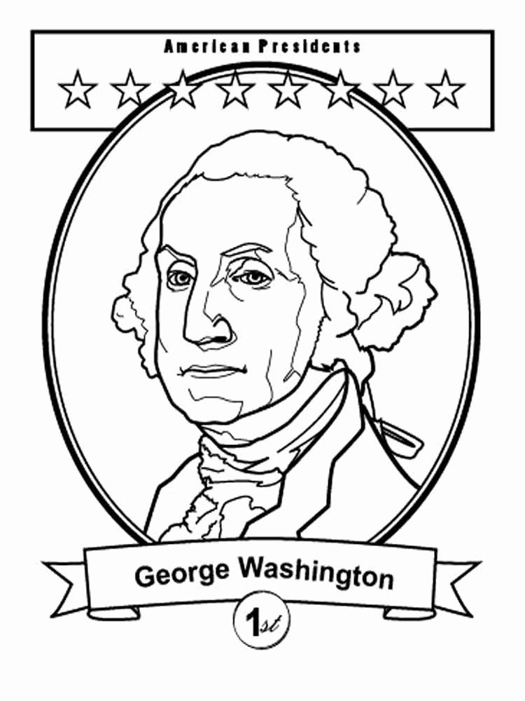 George Washington Coloring Page Beautiful President George Washington Coloring Pages Free P In 2020 George Washington Craft George Washington Activities Coloring Pages
