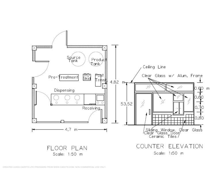 Sample Water Refilling Station Floor Plan Pdf Docshare Tips