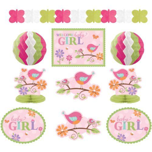Tweet Baby Girl Shower Room Decorating Kit By Amscan Httpwww
