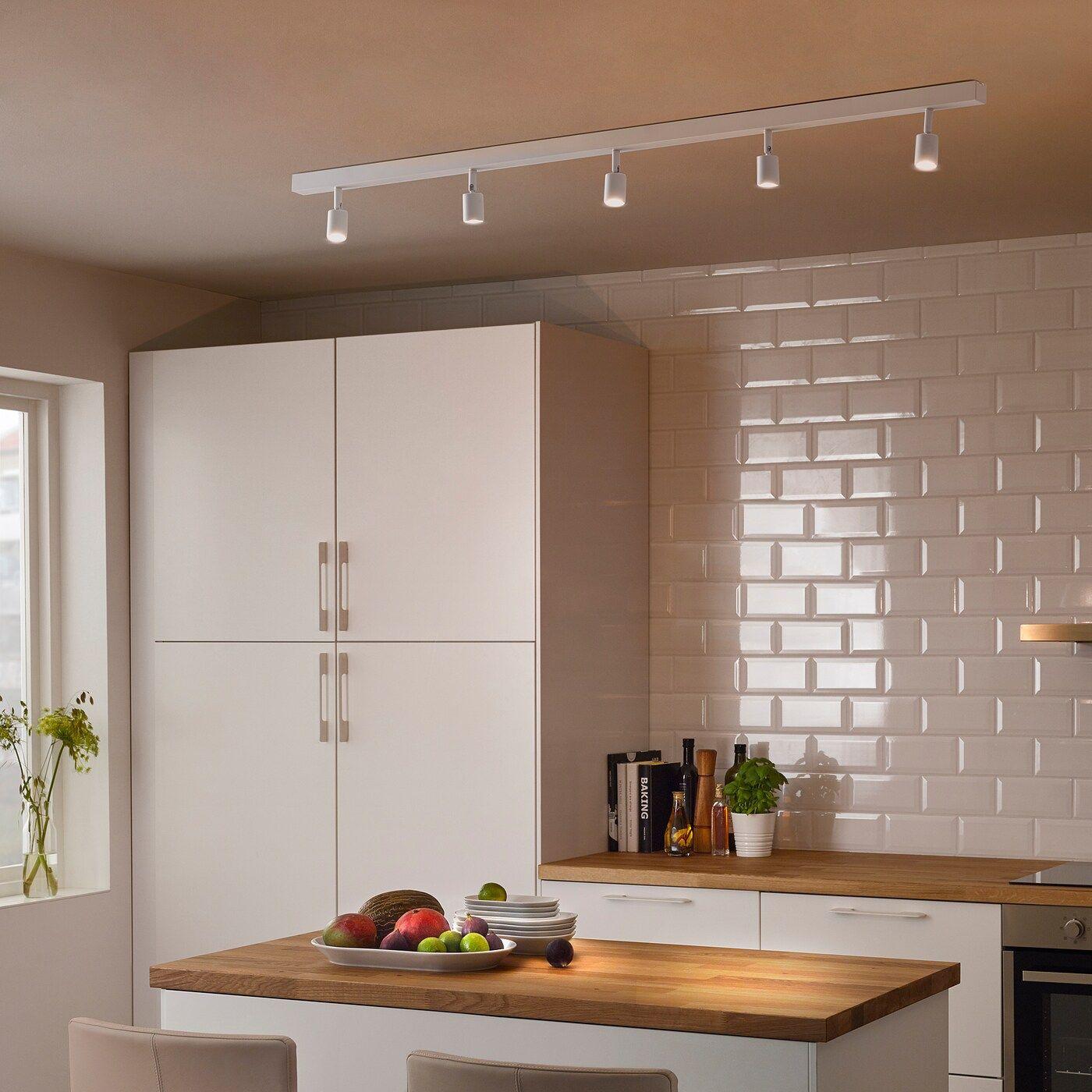 Binario Pensili Cucina Ikea bÄve binario soffitto 5 faretti led - bianco (con immagini