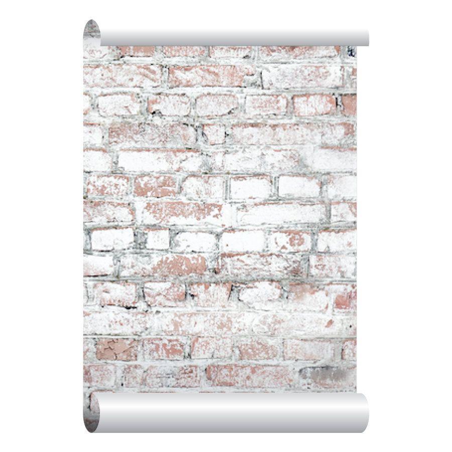 White Washed Brick Wallpaper Self Adhesive Peel And
