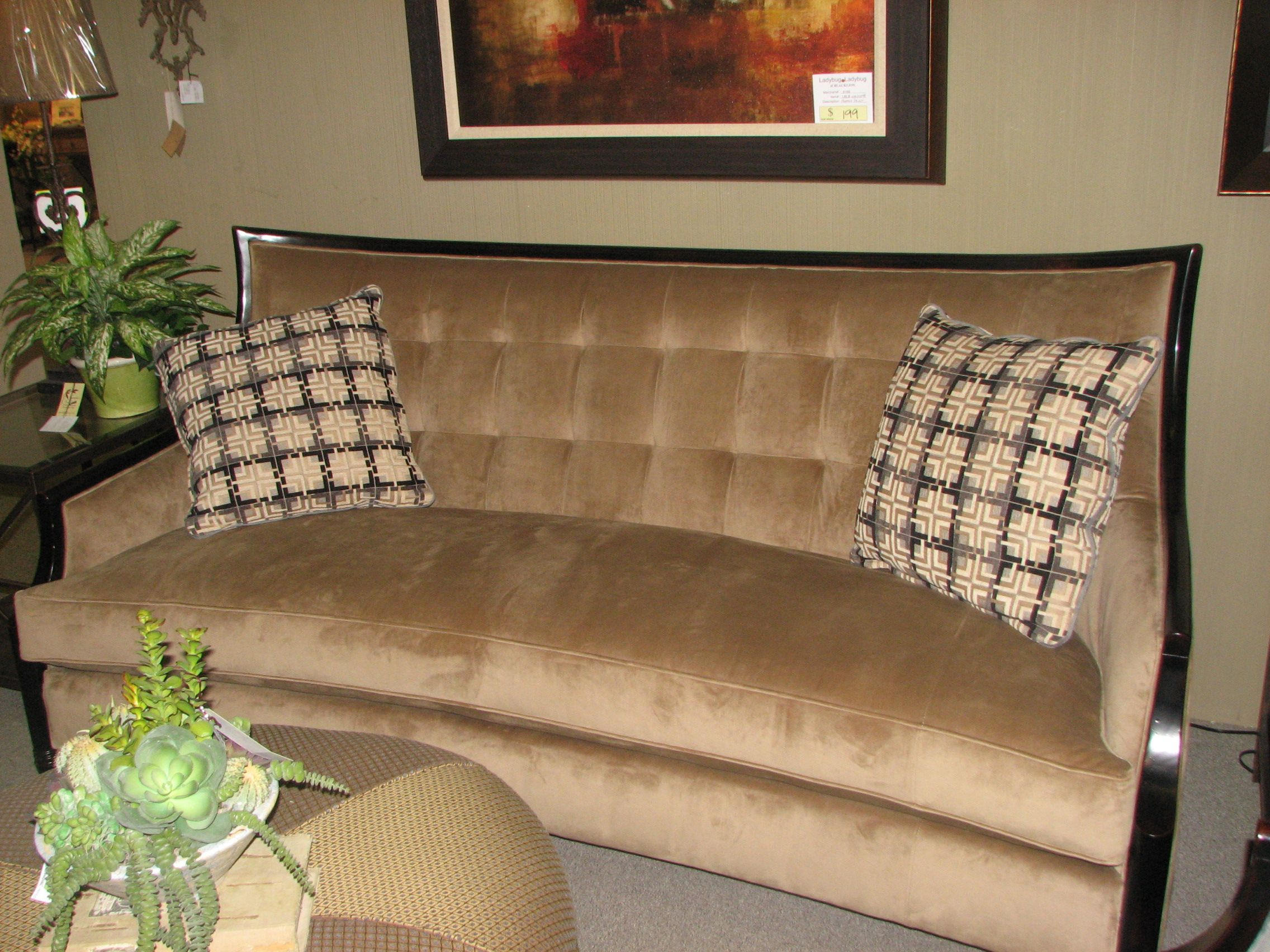 Cool sofa for more formal look at
