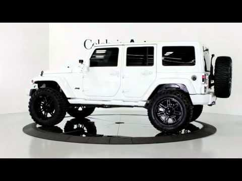2013 Jeep Wrangler Unlimited Sahara Bright White Clear Coat Exterior Finish Custom Black Leat White Jeep Wrangler Custom Jeep Wrangler Jeep Wrangler Interior