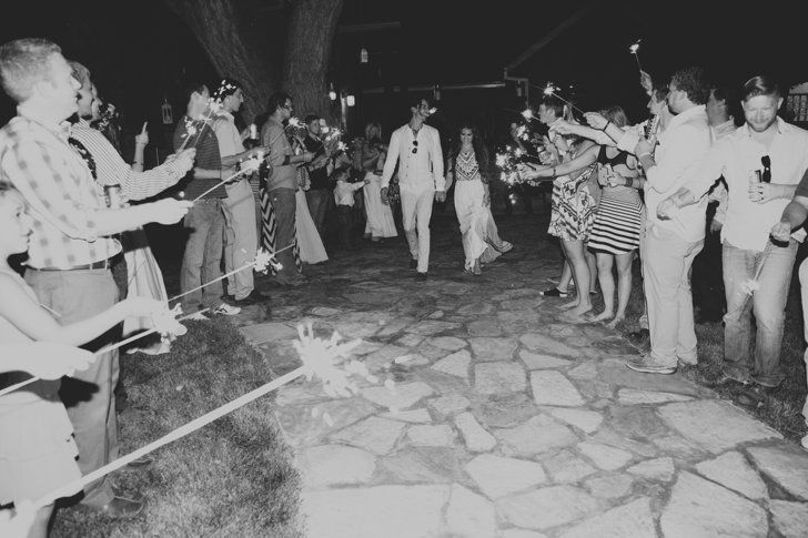Pin for Later: This Bohemian-Texan Wedding Will Have You Dreaming in Black-and-White  Photo by jFairchild Photography