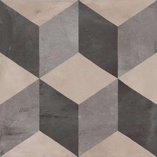 Terra Cubo Gris Carrelage Aspect Ciment Vieilli A Motifs Cubes