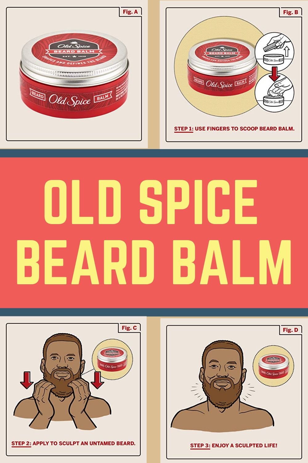 The aftermath of using Old Spice beard balm for men
