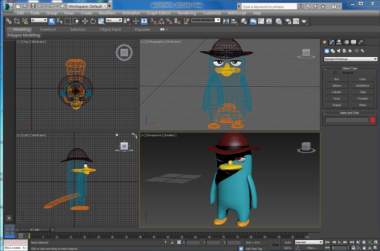 3Ds MAX 立體泰瑞 | 軟體練習 | Desktop screenshot, Desktop