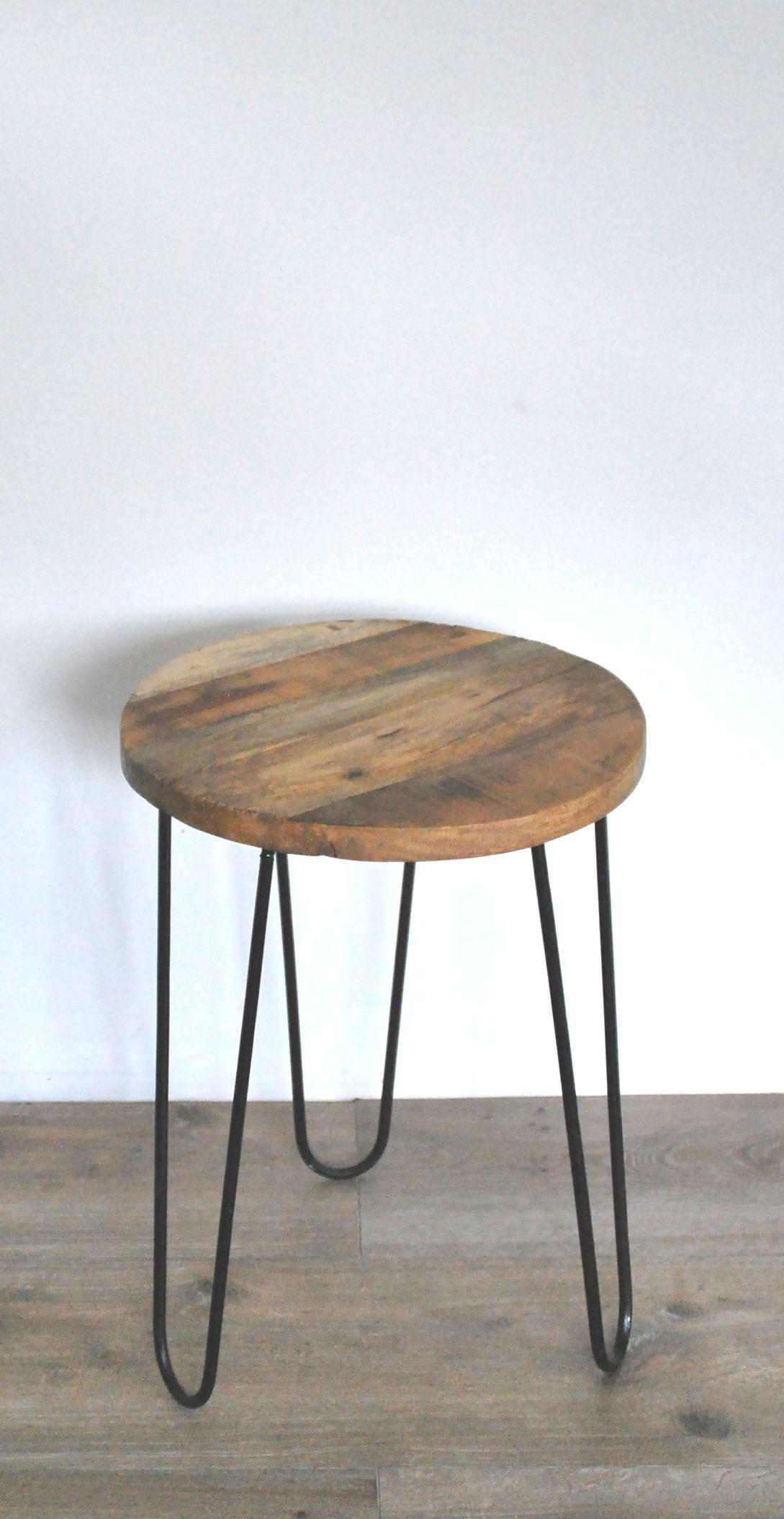 Bijzettafel Houten Blad.Bijzettafel Iron Woonideeen Home Decor Furniture En Interior
