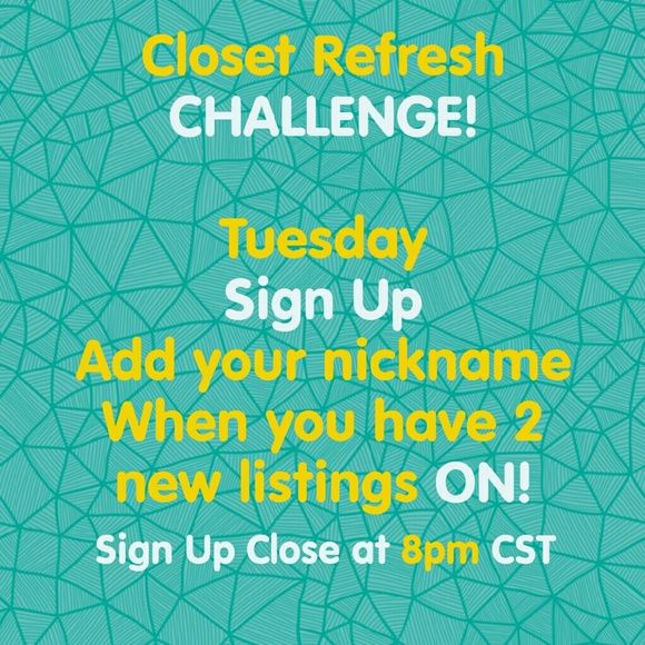 Tuesday 02/09 ~ All shares finished! ~ Thank You! New Rules! Please read:  From now on we will simply sign up as soon as we have at least 2 new listings ON. Just add your nickname here.  I'll close at 8pm CST Sending out a final list.  We will blast their 2 new listings 10x each.  We will sign out using your nickname.   No comments on Sign Up list,  I made a conversation sheet!  Any suggestions are welcome! Other