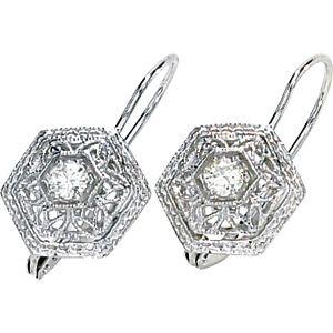 1 5 Ct Tw Moissanite Filigree Leverback Earrings For 274 97