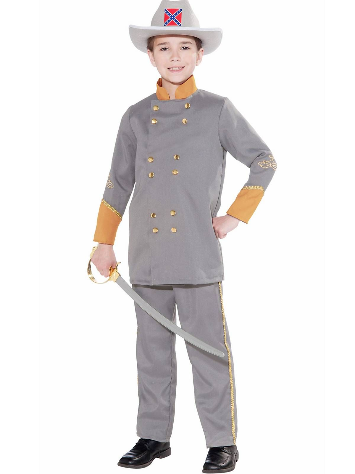 Large Adult Men's Gray Confederate Officer Uniform Civil War Costume Southern Uniform MDJWG6e
