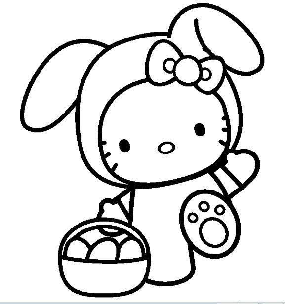 Coloriage Hello Kitty Gratuit Colorier Les Enfants