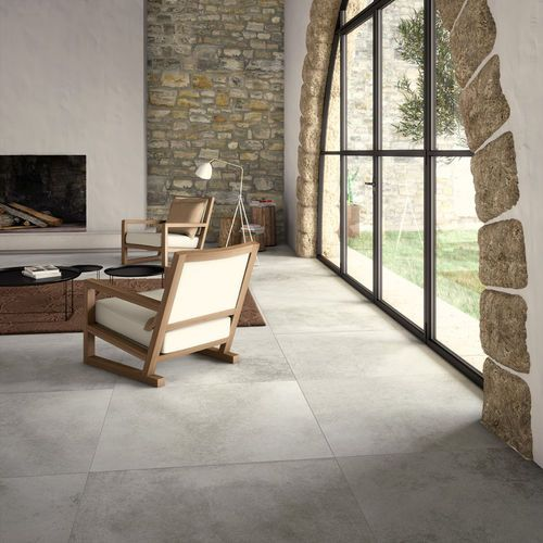 Carrelage De Salon De Sol En Gres Cerame A Relief Age Gris Natural By Inalco Inalco Carrelage Salon