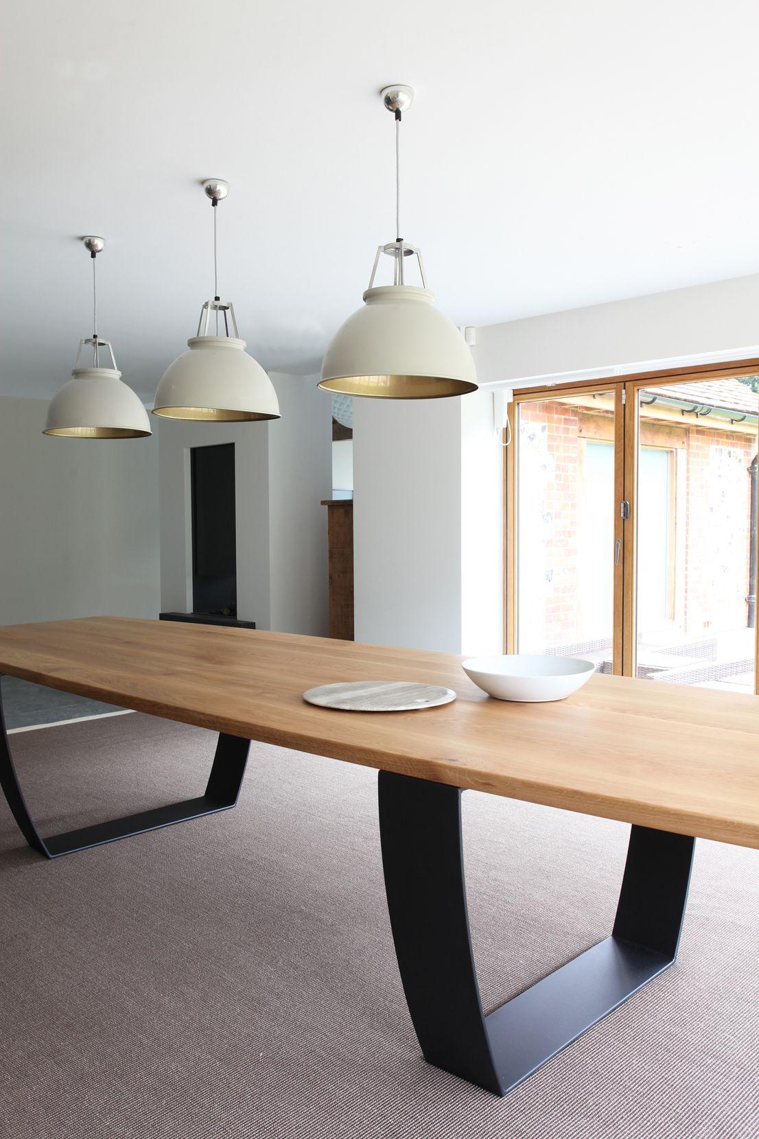 Concrete Kitchen Table Modern Kitchens Pictures Oak Steel Dining Design By Timber Trepazariski Masi Od