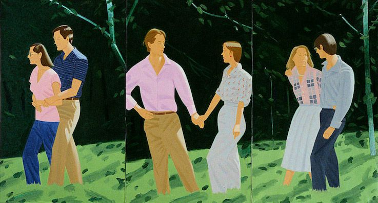 Alex Katz - Summer Triptych 1985