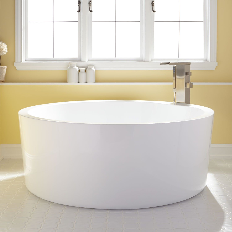59 dana round acrylic soaking tub bathtubs bathroom